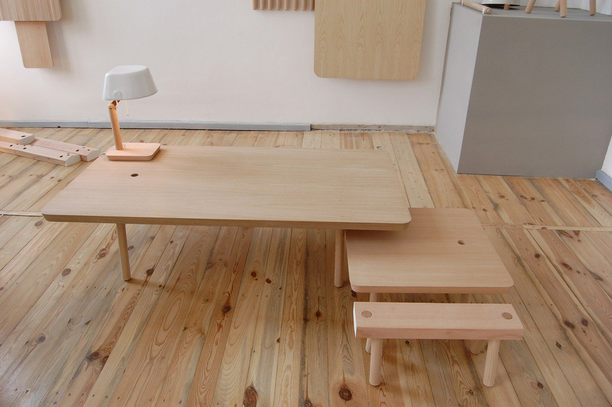 Wooden Studio Furniture ~ Wooden peg furniture by studiogorm