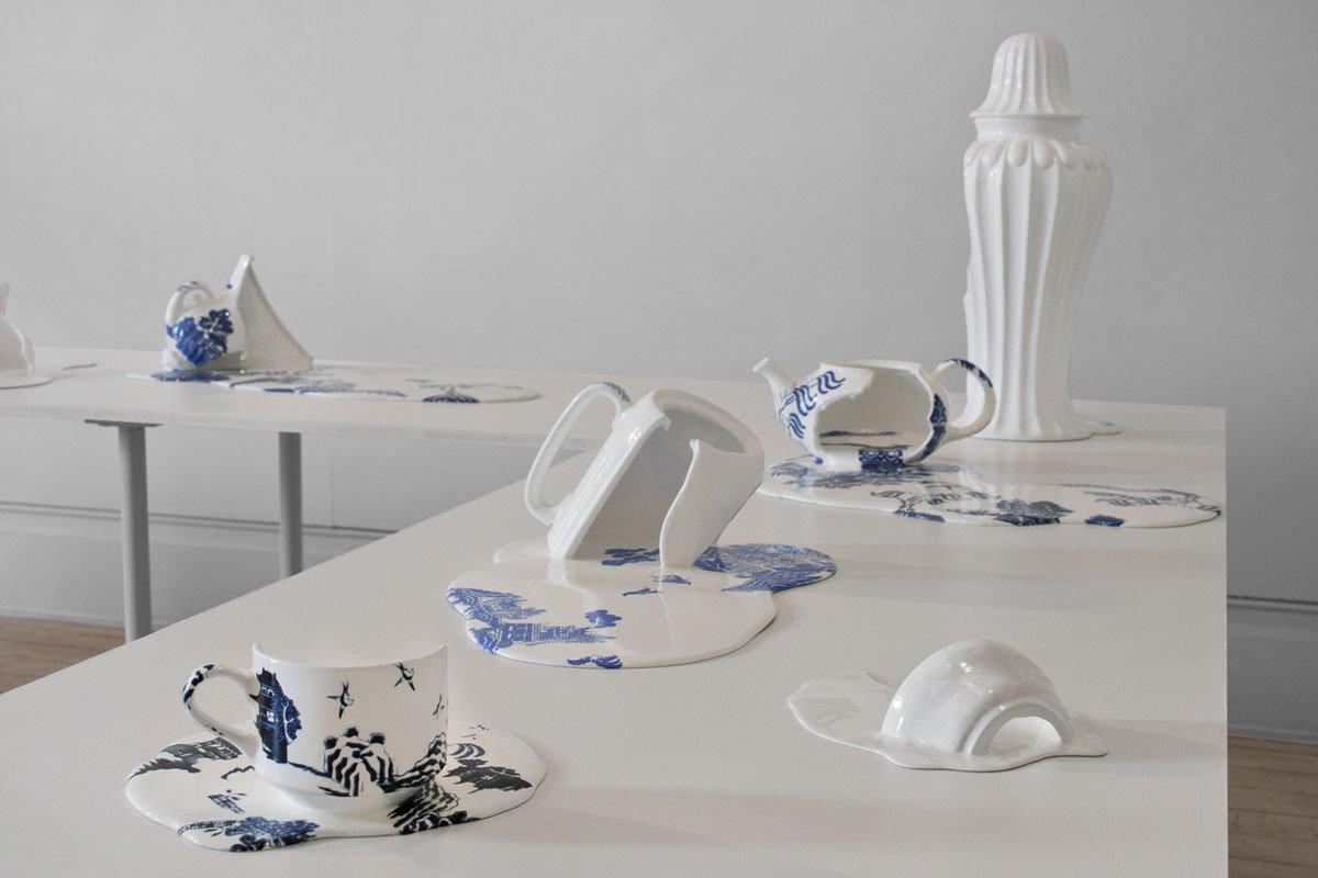 Nomad Patterns Melting Ceramics By Livia Marin