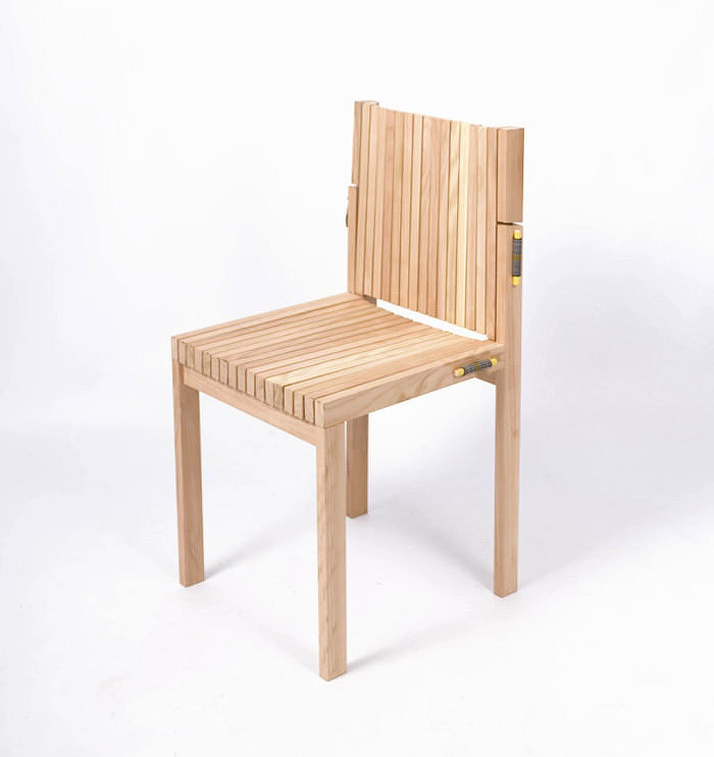 wooden design with the flexibility of an office chair 1