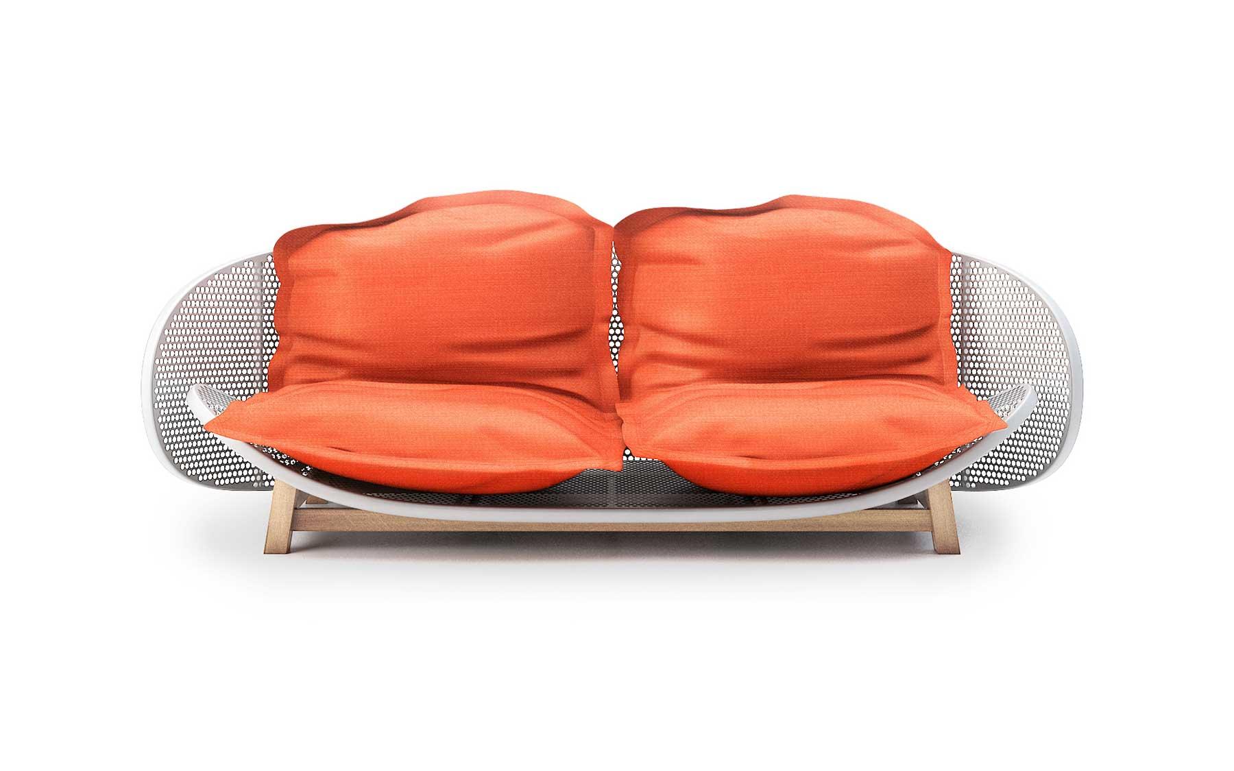 OUFS Bean Bag Sofa by Alexandre Boucher