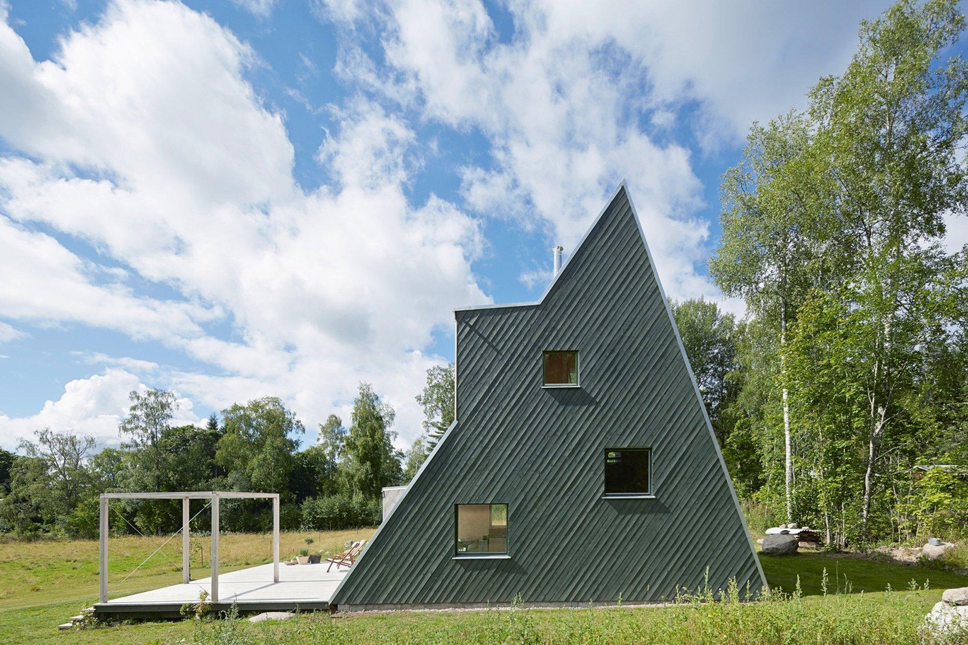 Triangular Summer Getaway Home In Sweden