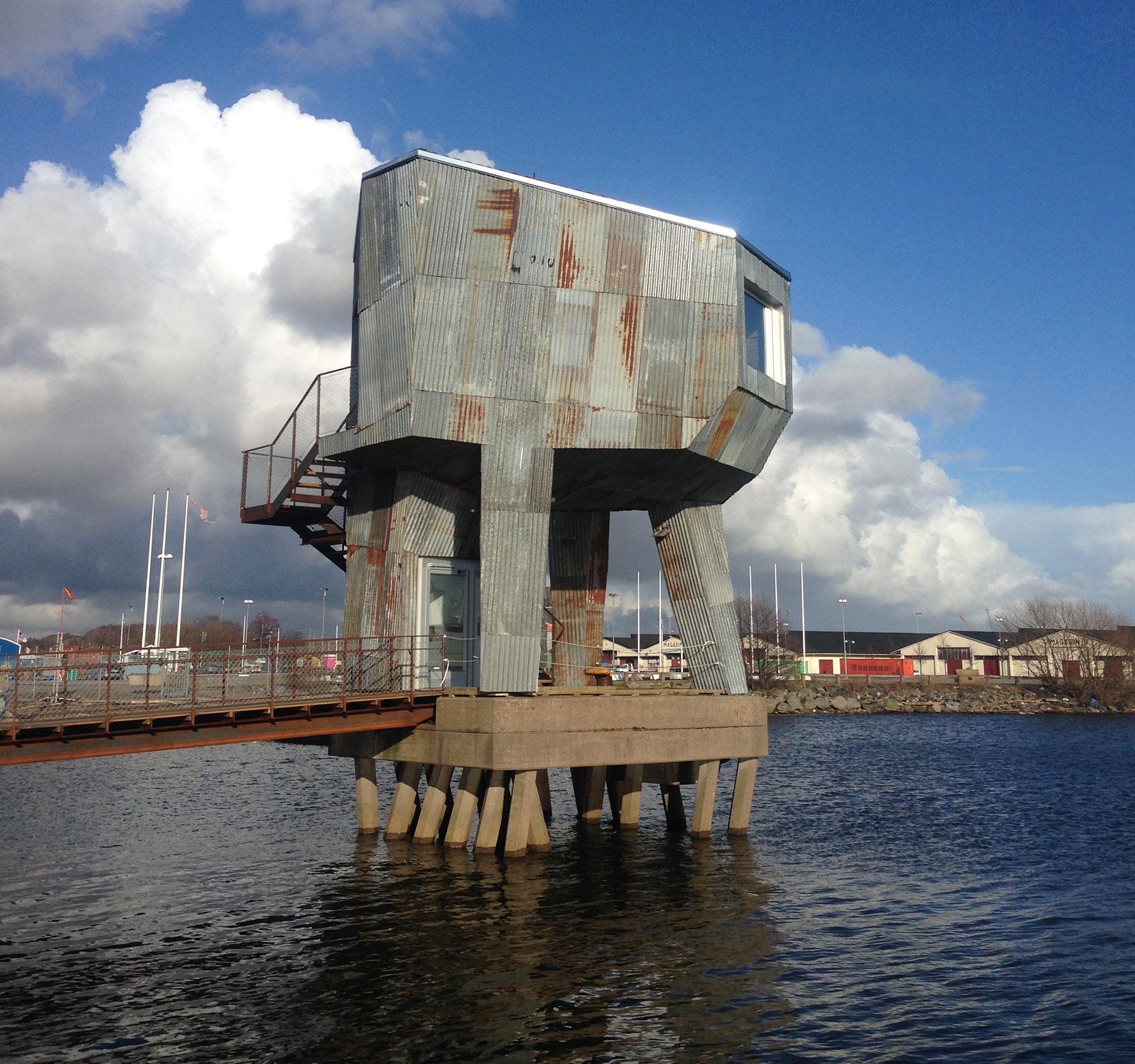 the public sauna on the docks in gothenburg  sweden