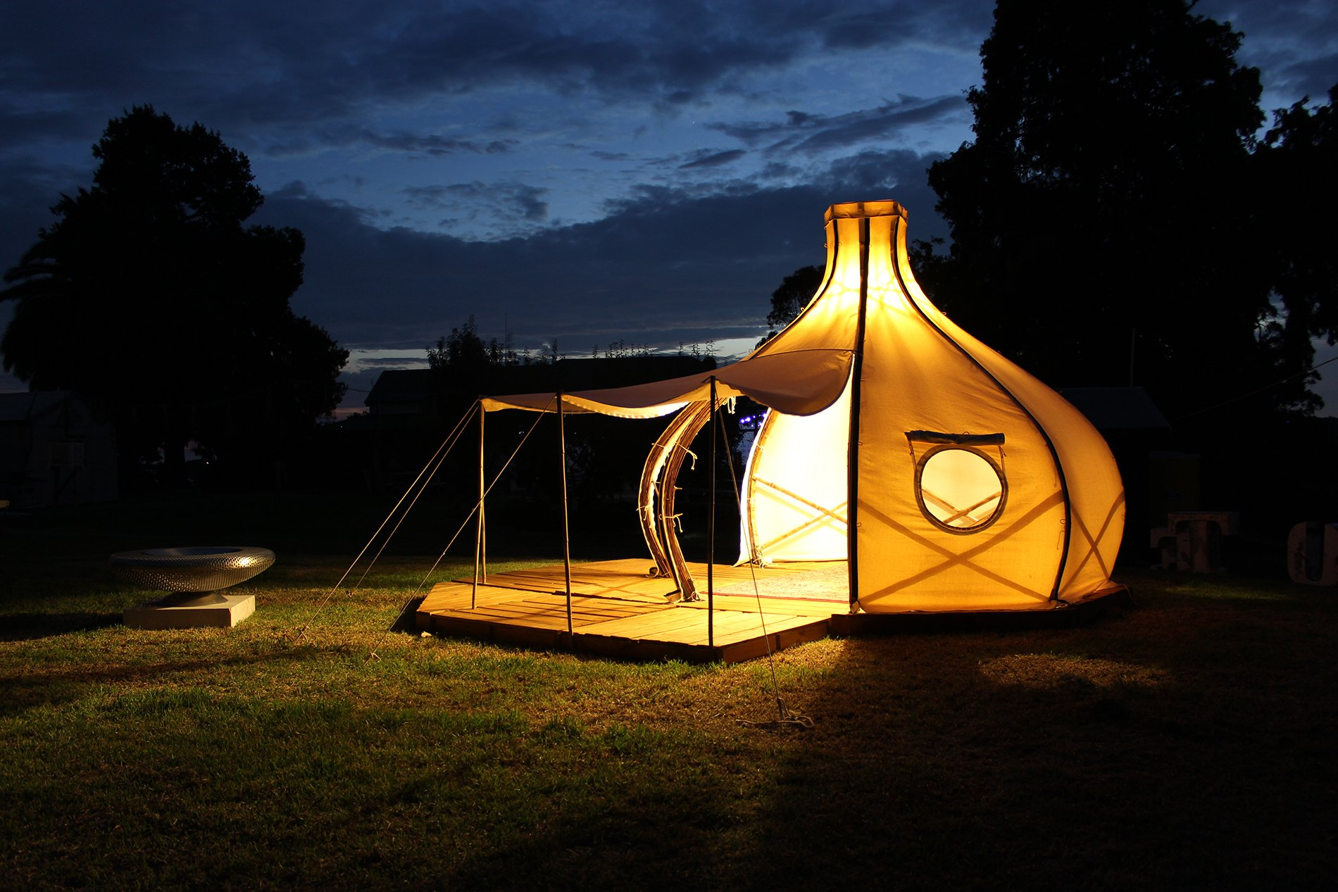 9 / 14 & f)route POD: A Sustainable Semi-Permanent Tent by Giant Grass