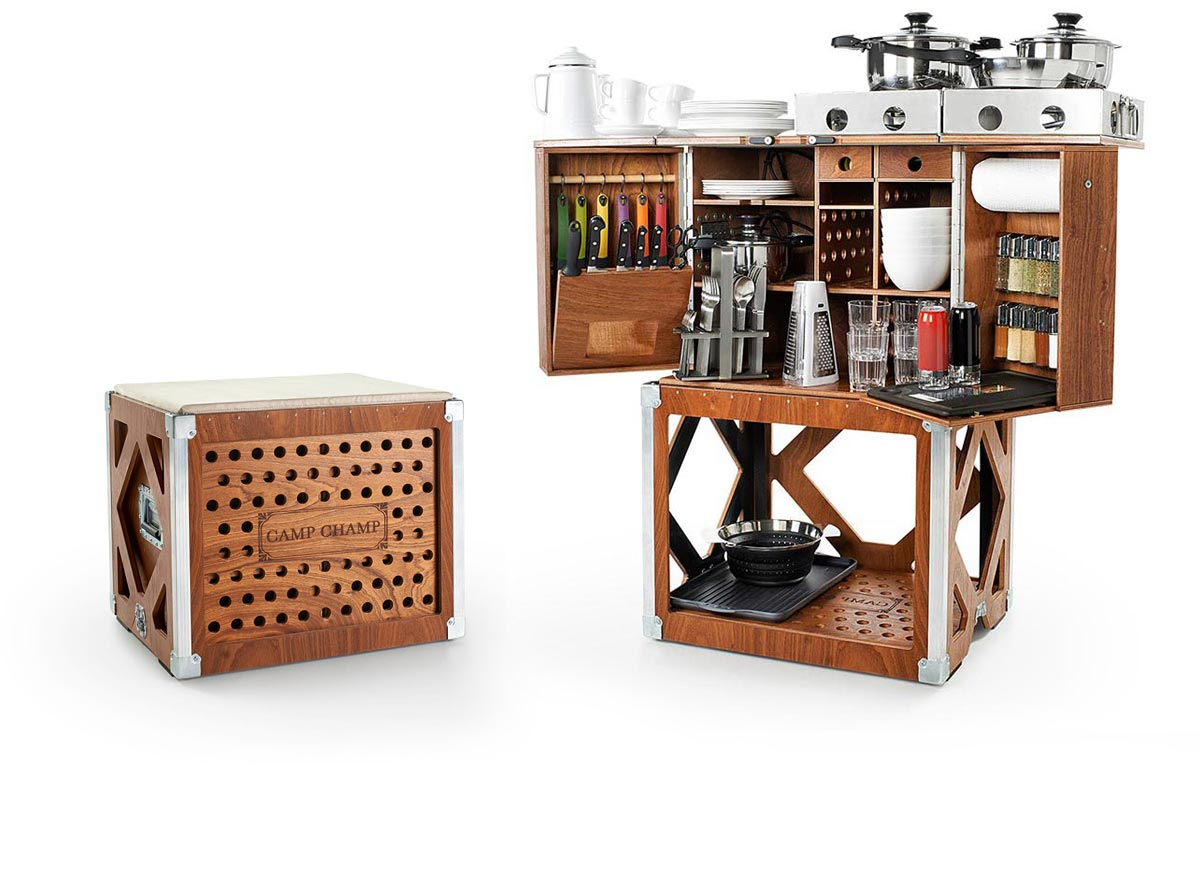 camp champ, portable camping kitchen