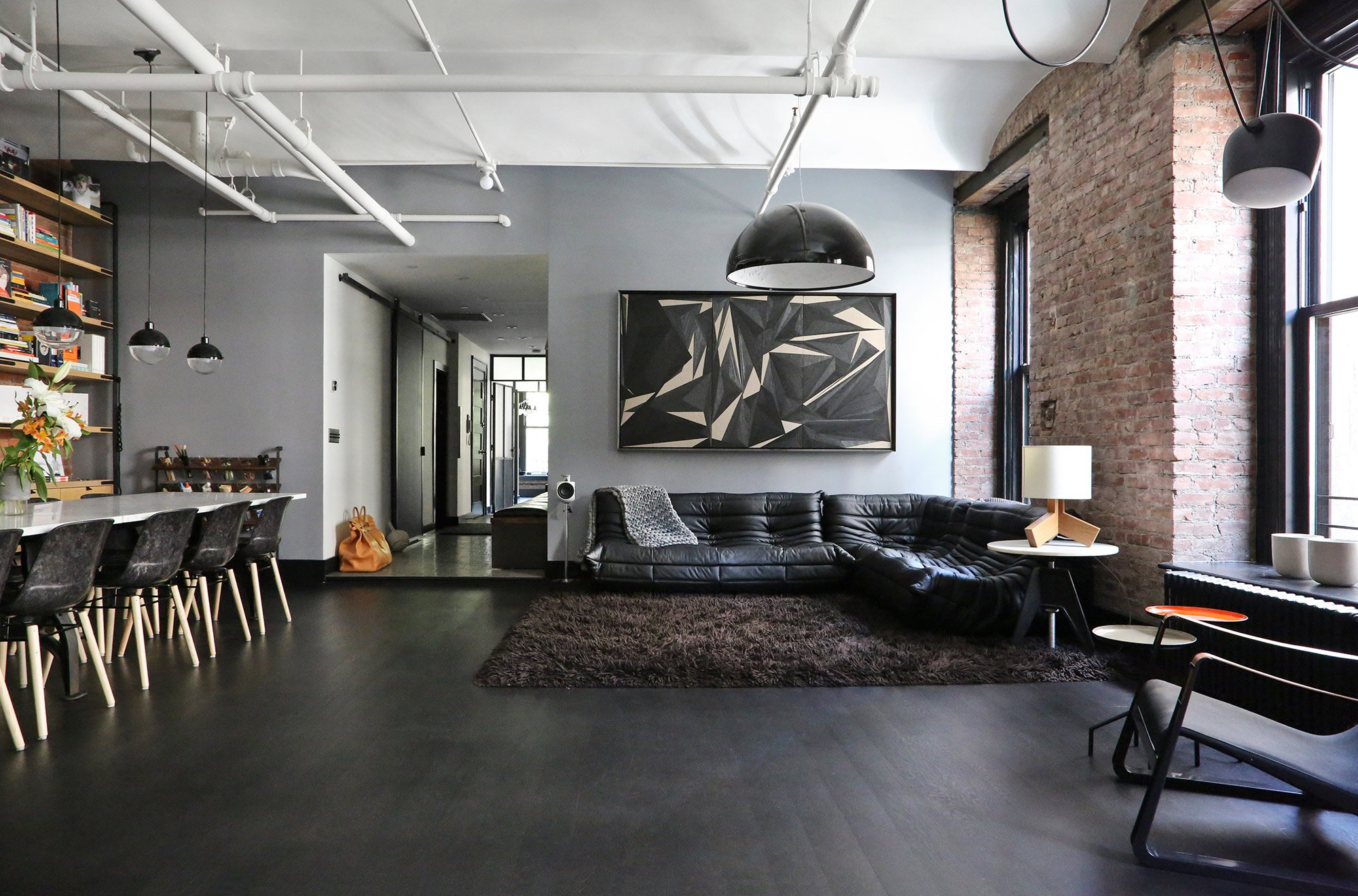 great jones loft in new york. Black Bedroom Furniture Sets. Home Design Ideas