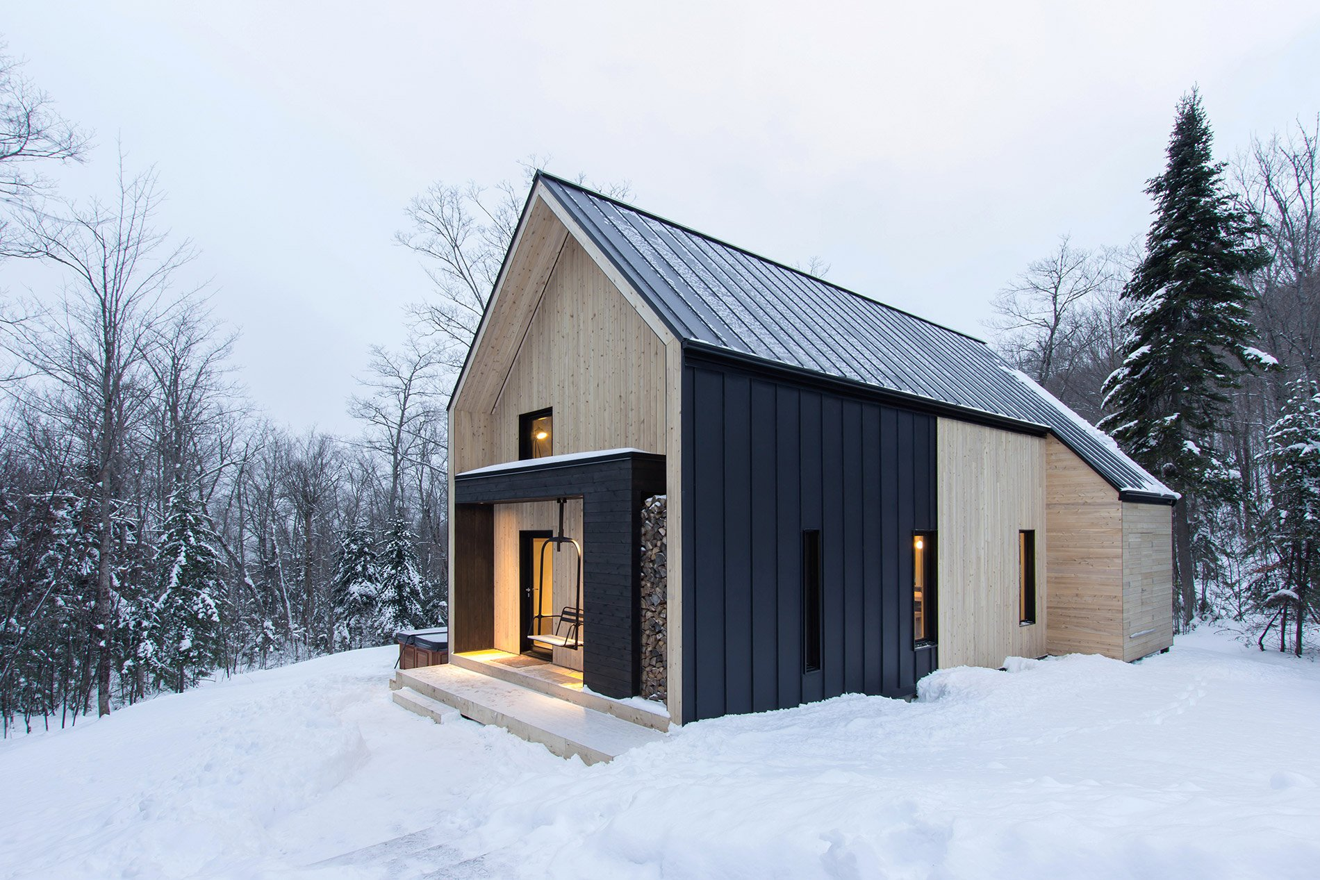 Scandinavian Architecture In Canadian Forest