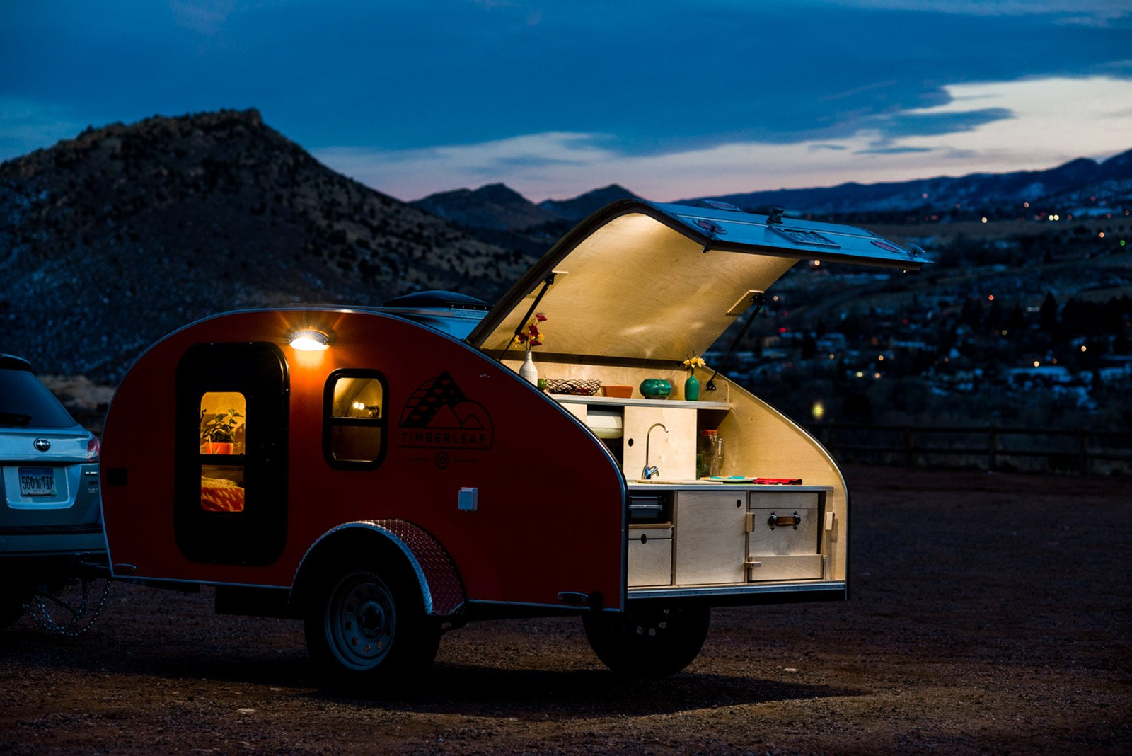 the timberleaf teardrop trailer