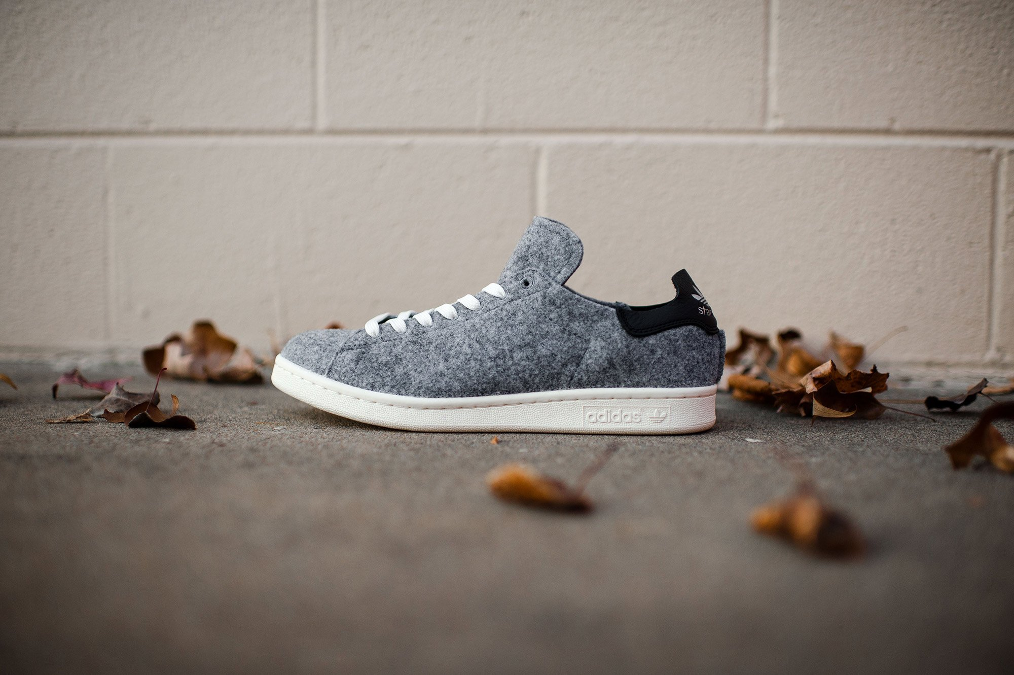 low priced f4da7 20dfa Adidas Stan Smith PC Wool Grey