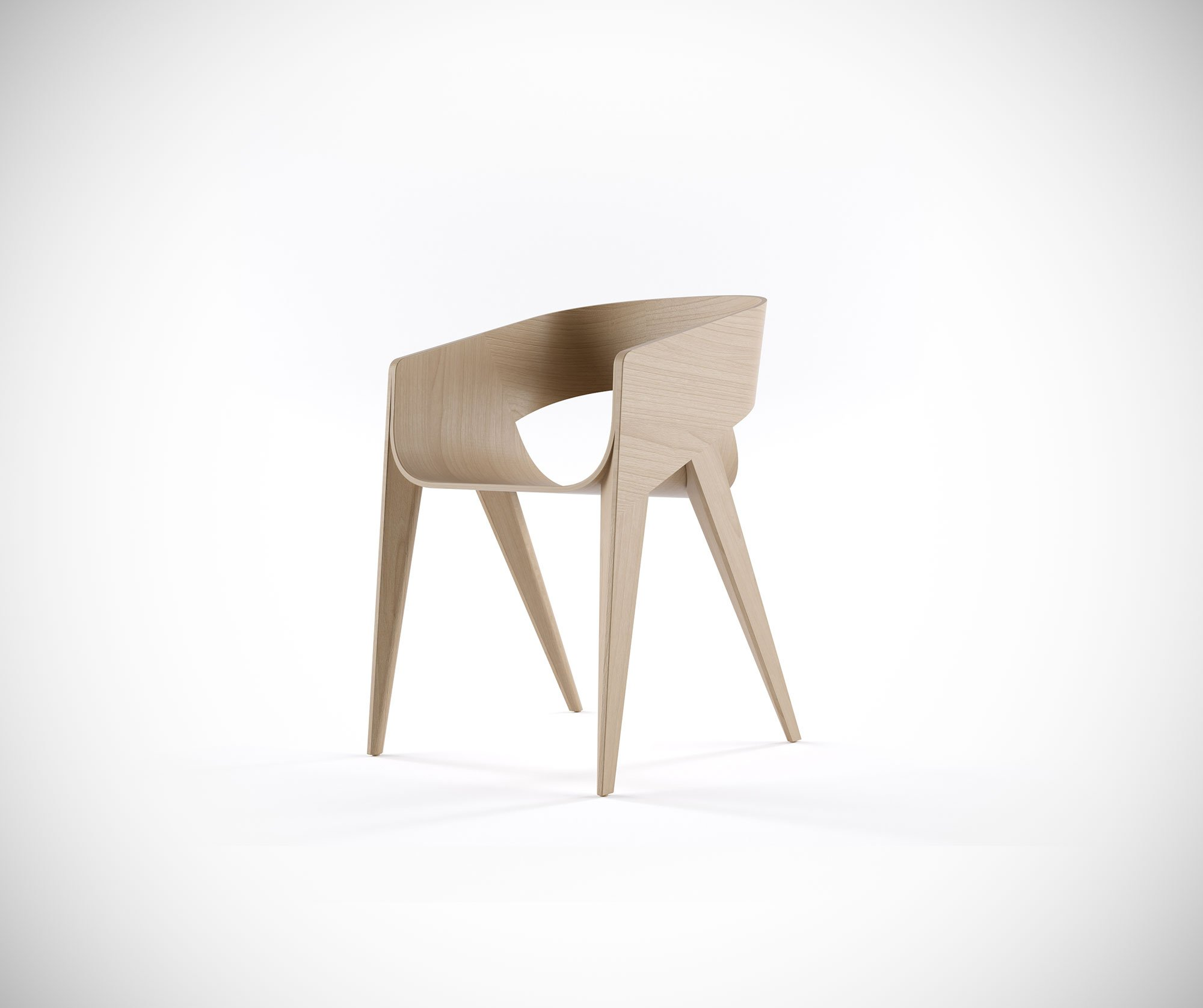 The Ergonomic Shape Ensures More Comfort, While Also Giving The Chair A  Graceful Silhouette. The Solid Wood Feet Support The Plywood Structure, ...