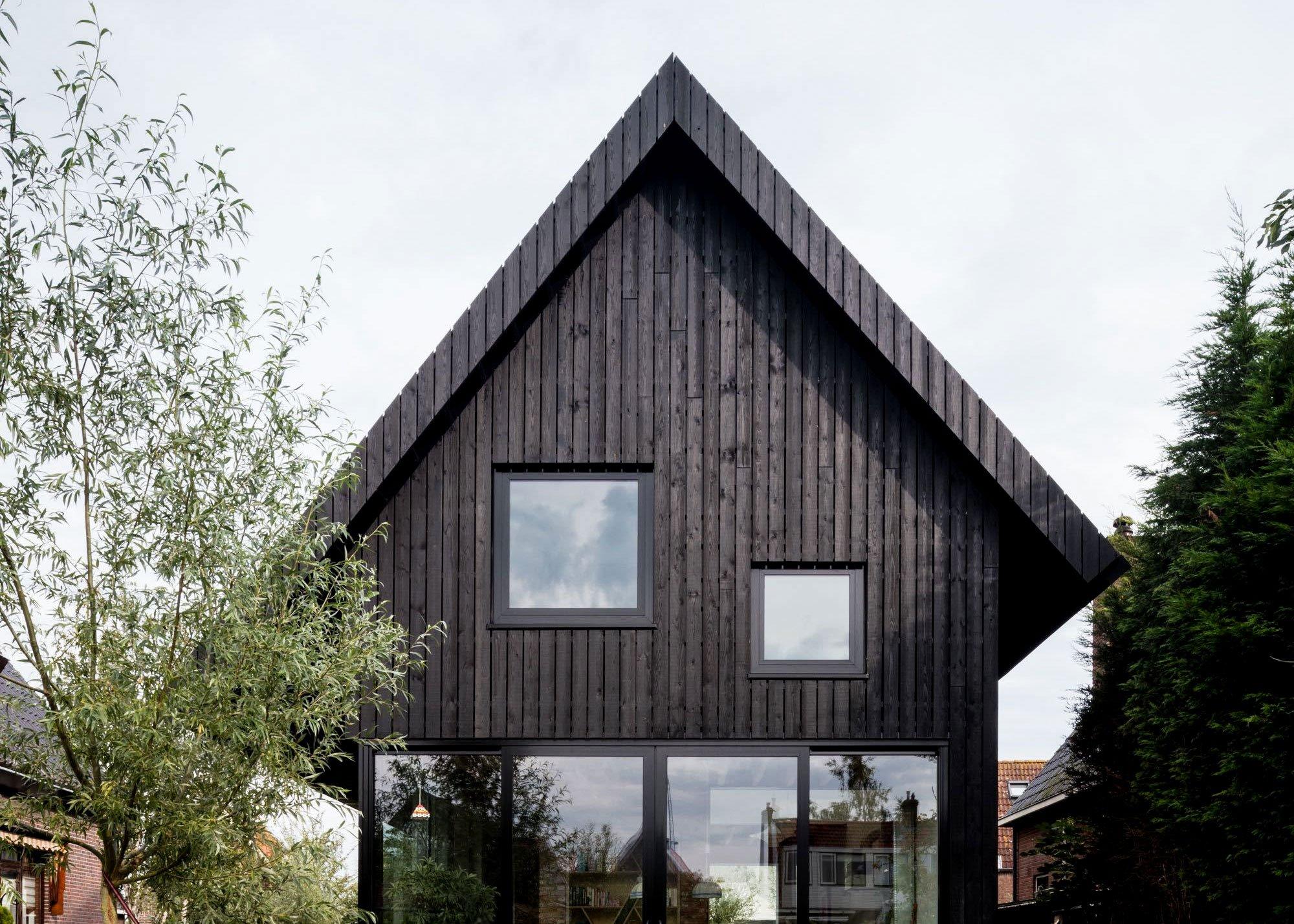 dark wood house  amsterdam house mm