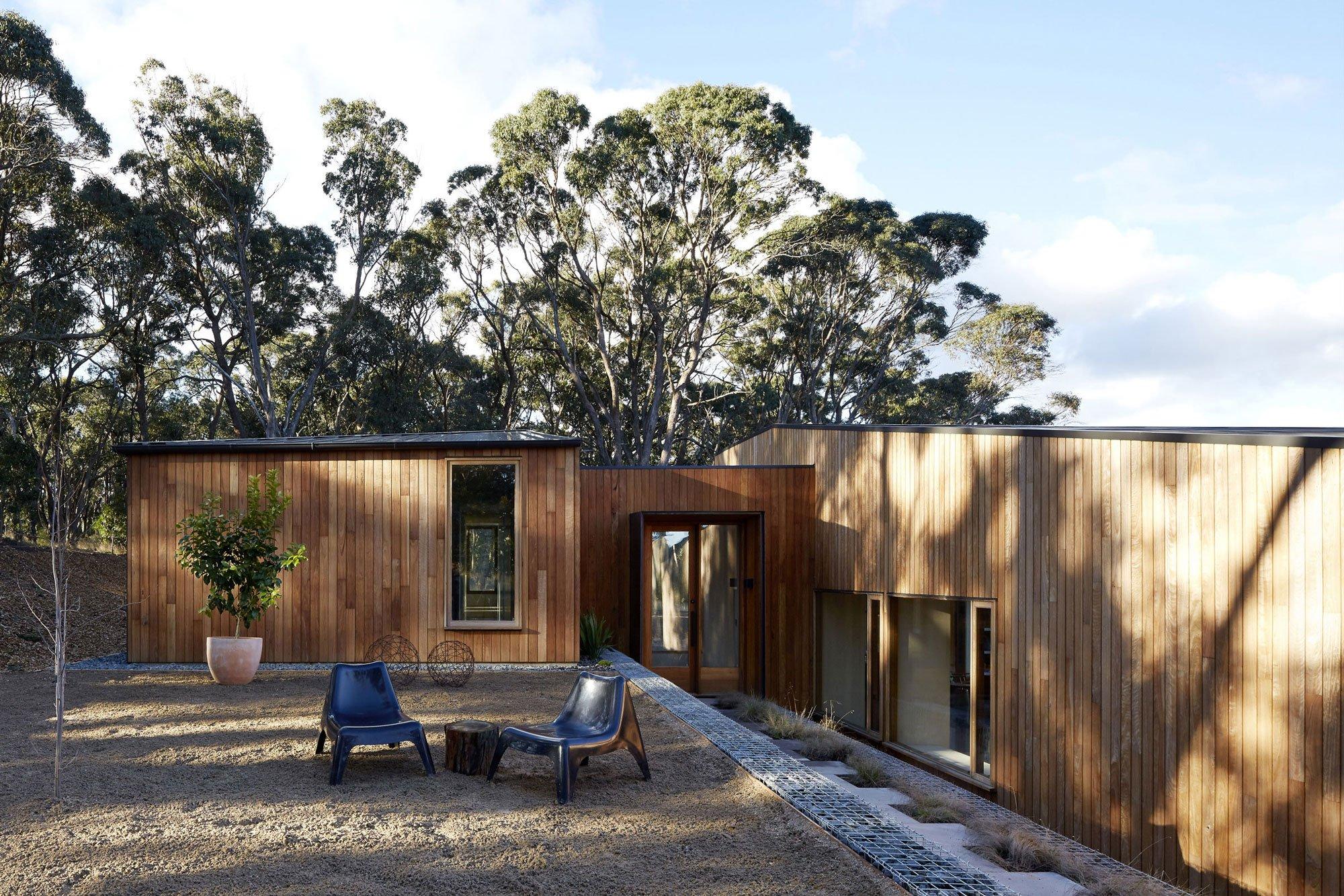 A Modern Wood House Two Halves House