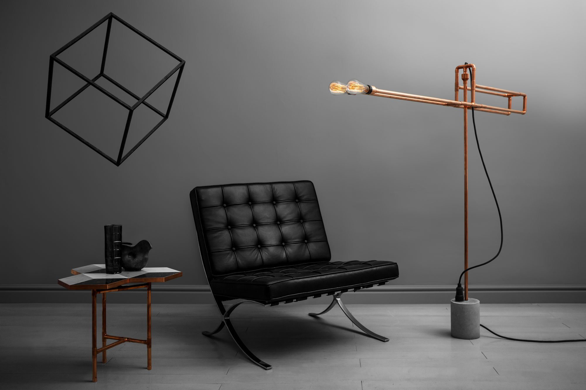 Zapalgo copper lamps for Rubi floor lamp copper