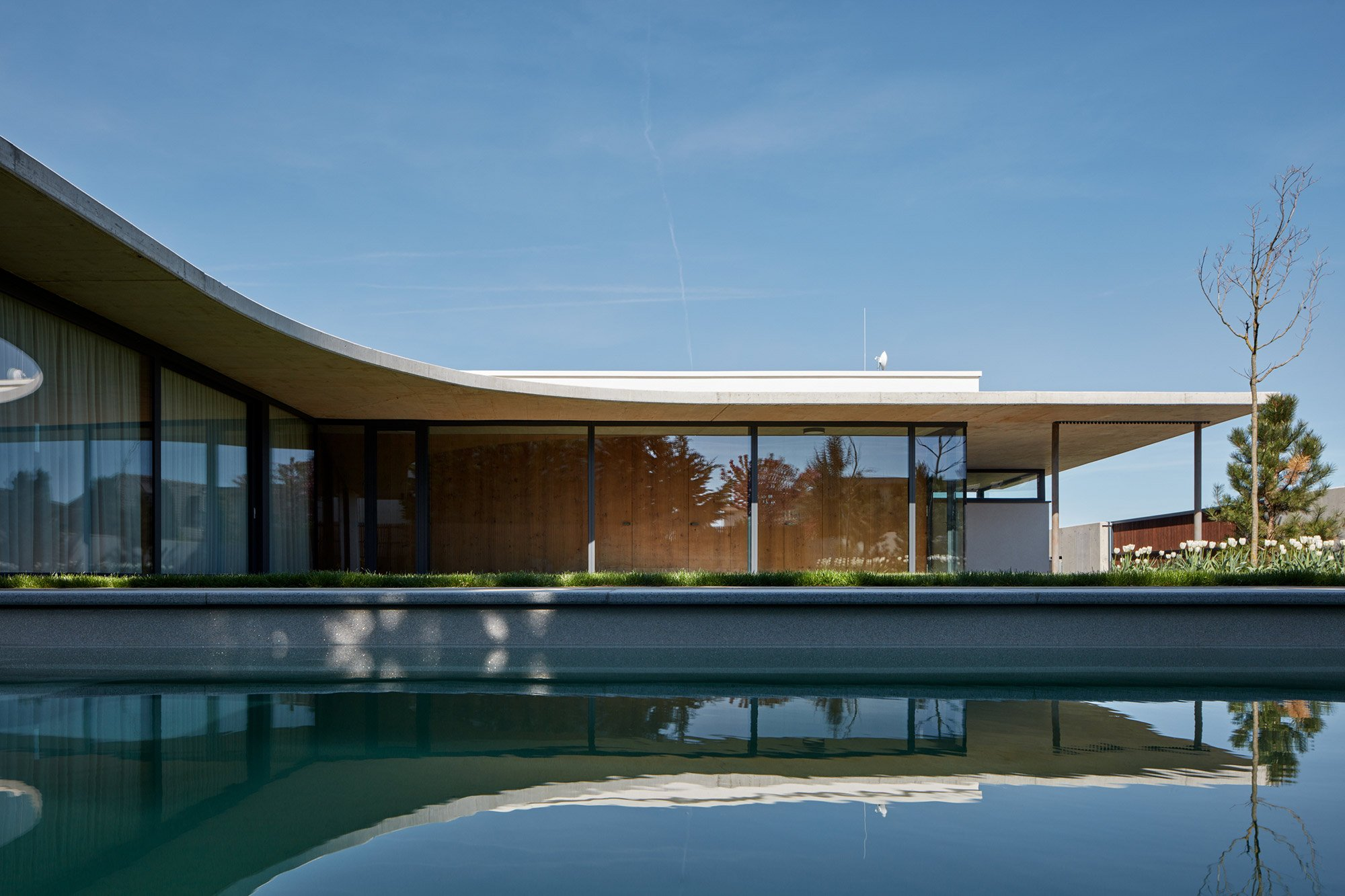The Cantilevered Part Of The Roof Helps To Regulate The