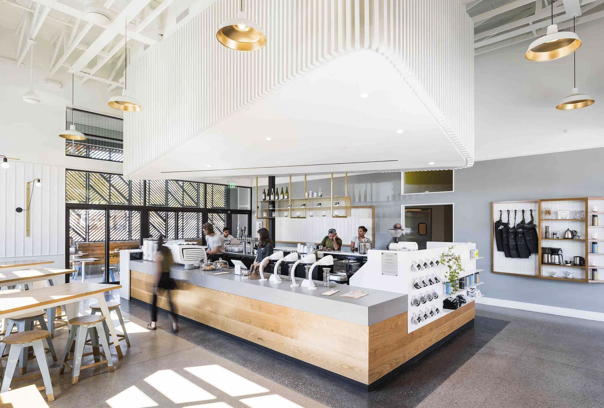 Houndstooth Coffee and Jettison Cocktail Bar by OFFICIAL, coffee shop design