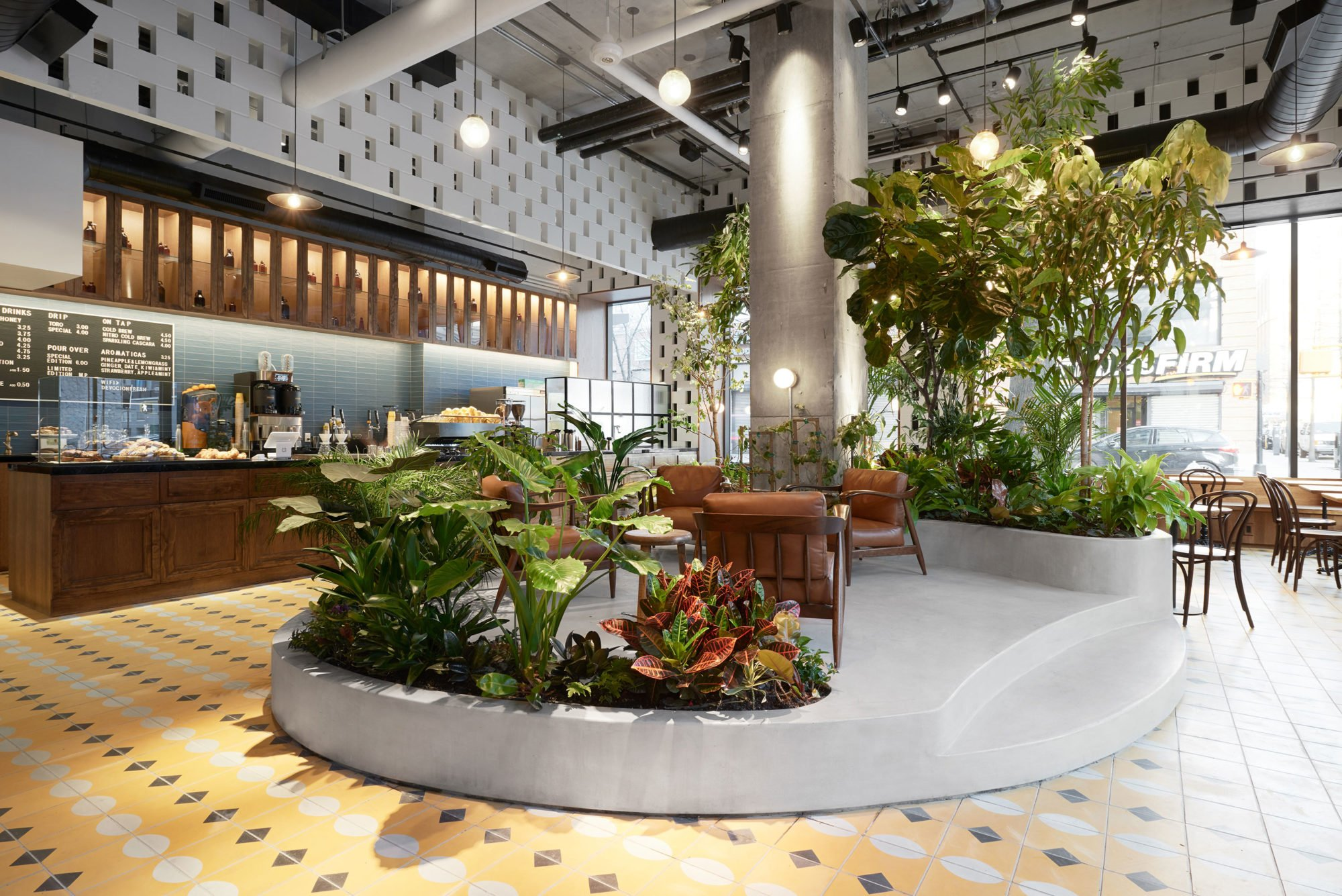 Devocion Coffee by LOT Office for Architecture, coffee shop design