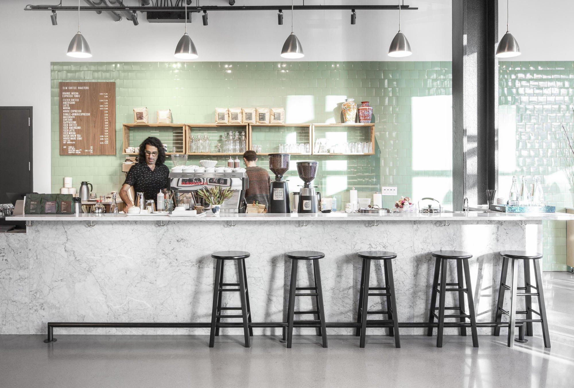 Elm Coffee Roasters by Olson Kundig coffee shop design